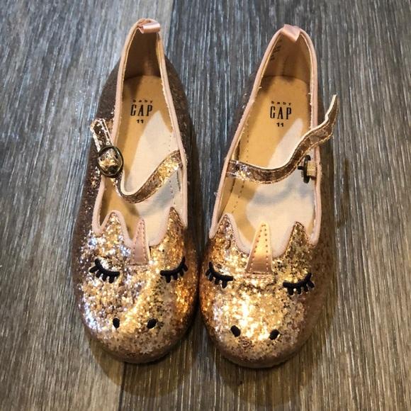 Gold Unicorn Glitter Shoes | Poshmark